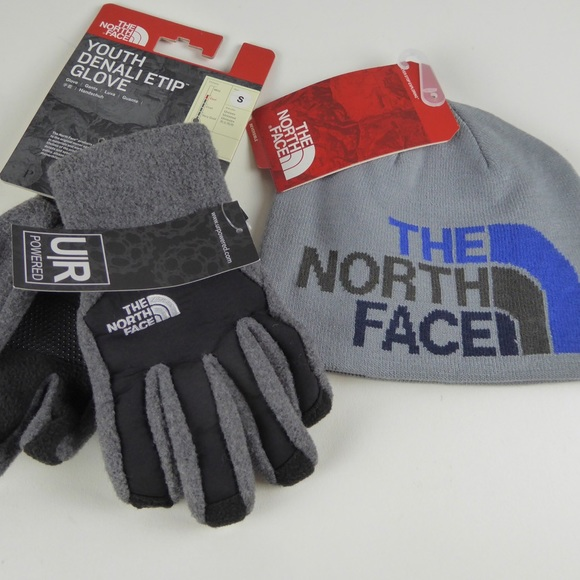 336737a2b North Face Denali Gloves Anders Reversible Beanie NWT